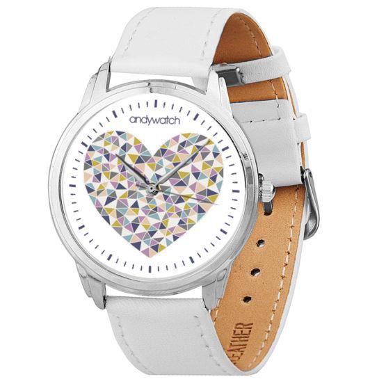Наручные часы andywatch 053 Сердечки на белом
